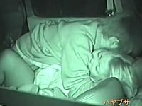カーセックスを盗撮されたヤンキーカップルの生々しい愛の営み