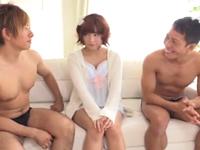 マッチョなイケメンAV男優の濃厚な精液を膣内で受け止める美少女
